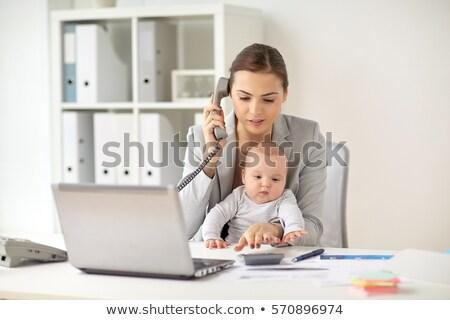 freelancer · werken · kantoor · aan · huis · computer · desktop · pc - stockfoto © dolgachov