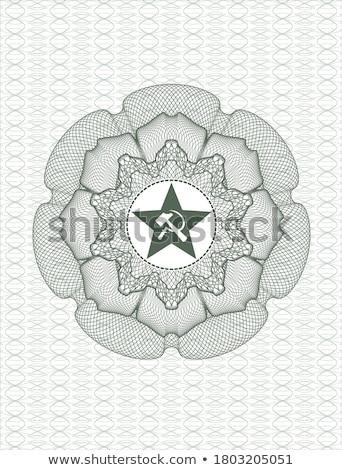 共産主義 · シンボル · 実例 · グランジ · スタイル · 赤 - ストックフォト © netkov1