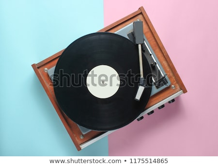 Vinil toca disco eighties estilo retro Foto stock © studiostoks