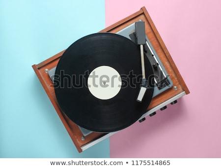 bakelit · lemez · diszkó · láz · izolált · fehér - stock fotó © studiostoks