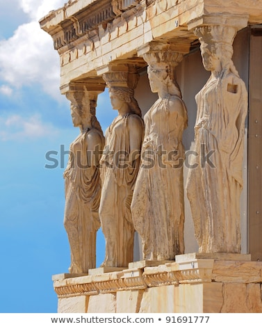 Standbeeld Athene Griekenland godin kennis Stockfoto © fazon1