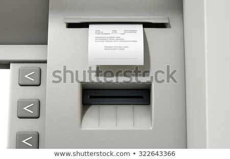 ATM Slip Declined Stock photo © albund