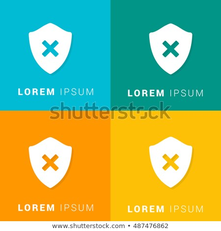 business and protection   colorful material design icons set stock photo © decorwithme