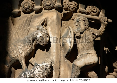 四半期 バルセロナ パノラマ 広場 大聖堂 教会 ストックフォト © neirfy