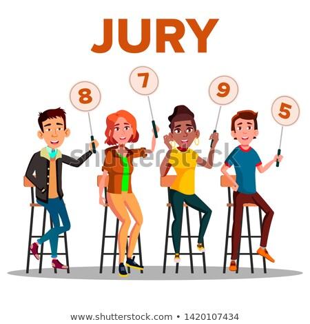 Jury signe montrent score vecteur Photo stock © pikepicture