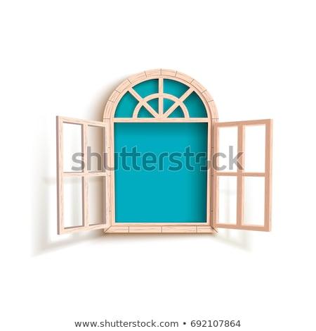 dobrar · vista · lateral · branco · negócio · cidade · vidro - foto stock © romvo