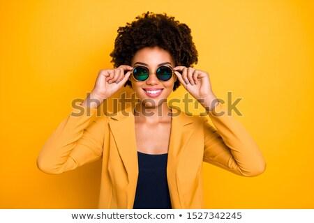 ilustração · sol · parcialmente · legal · óculos · de · sol - foto stock © liolle
