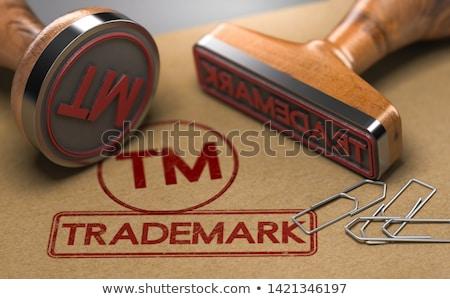 Handelsmerk registratie 3d illustration twee rubber postzegels Stockfoto © olivier_le_moal
