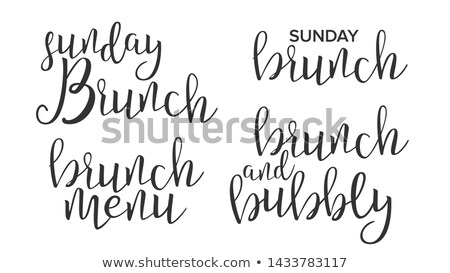 Funny Modern Calligraphy Of Brunch Word Vector Stock photo © pikepicture