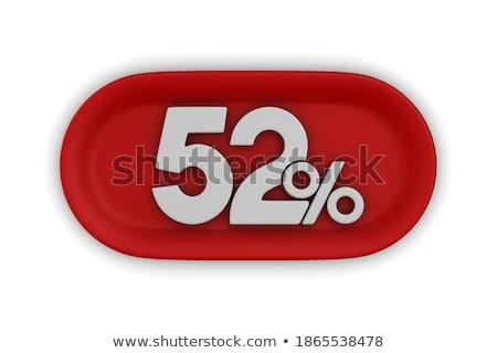 ötven kettő százalék fehér izolált 3d illusztráció Stock fotó © ISerg