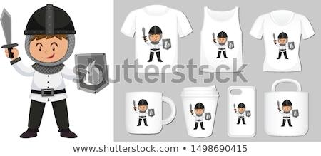 Grafisch ontwerp verschillend producten ridder illustratie kind Stockfoto © bluering