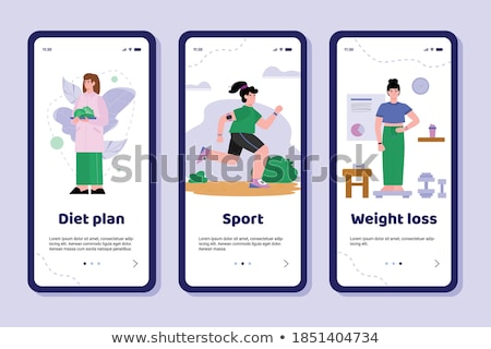 Vector fitness and diet app concept Stock photo © tele52