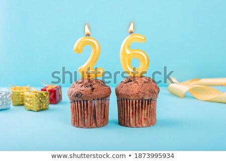 Torta candele numero 26 Foto d'archivio © Zerbor