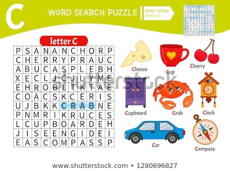 letter C worksheet with cartoon cup Stock photo © izakowski
