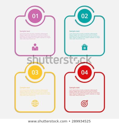 Mente mínimo infografía banner vector web Foto stock © pikepicture