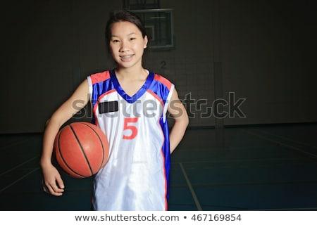 ázsiai kosárlabdázó mező lány iskola sport Stock fotó © Lopolo