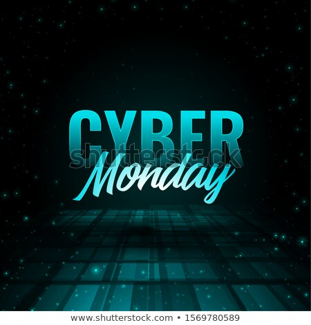 stylish cyber monday 3d effect background design stock photo © SArts