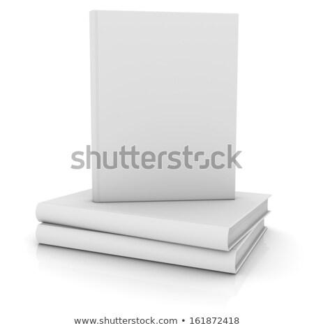 cubrir · libros · aislado · blanco · libro - foto stock © AndreyKr