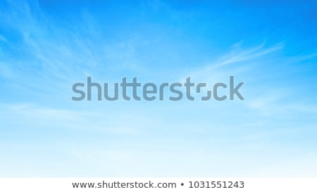 Blue clear sky with white cumulus clouds. Stock photo © artjazz