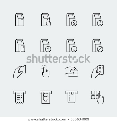 Pay Pass Card Banking Money Vector Thin Line Icon Stock photo © pikepicture