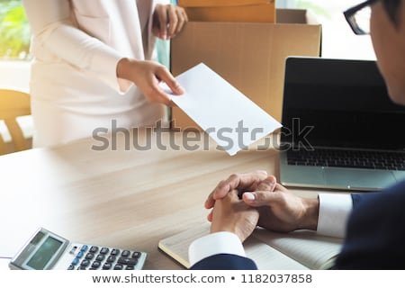Employee businessman submit or sending resignation document lett Stock photo © snowing