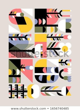 геометрический стиль вектора карт наивный Сток-фото © ussr