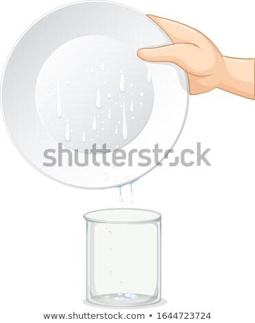 値下がり 水 プレート ダウン ビーカー ストックフォト © bluering