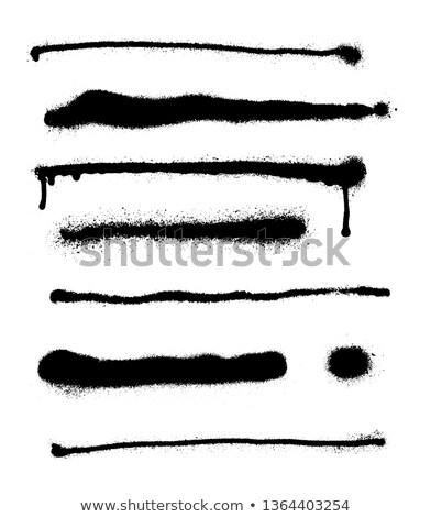 Streszczenie sprayem elementy wysoko szczegółowy wektora Zdjęcia stock © odes