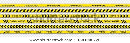 Bioveszély veszély citromsárga fekete csíkok koronavírus Stock fotó © olehsvetiukha