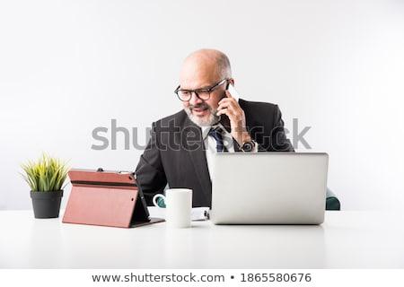 Senior persoon computer vrouw internet vrouwen Stockfoto © Lopolo