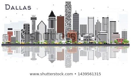 Dallas horizonte gris edificios cielo azul reflexiones Foto stock © ShustrikS