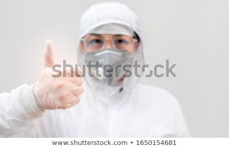 Megelőzés orvosi gumikesztyű kéz gél üveg Stock fotó © hayaship