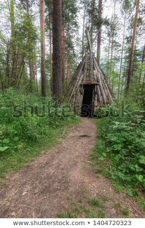 Eski eski insanlar orman sibirya Rusya Stok fotoğraf © olira