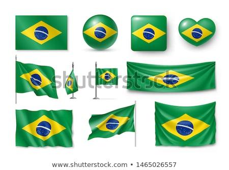 フラグ ブラジル 中心 碑文 愛 ストックフォト © butenkow