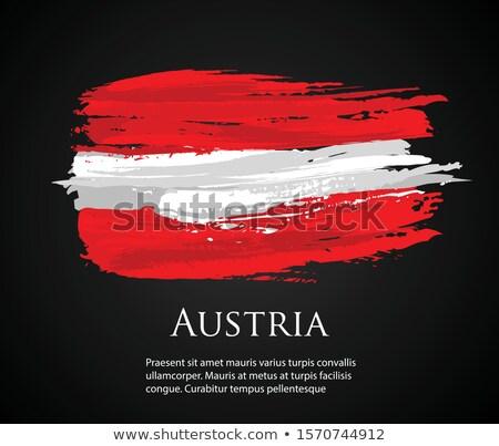 Austria bandera mano blanco diseno fondo Foto stock © butenkow