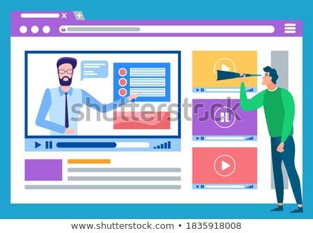Online Bildung Video Erklärung Material Vektor Stock foto © robuart