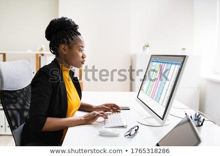 Financial Analyst Using Spreadsheet Software Stock photo © AndreyPopov