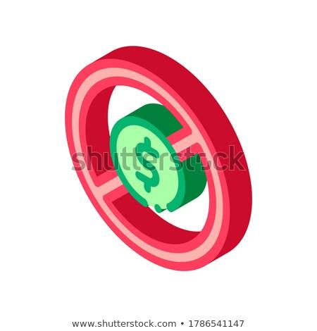 Dolar zakazu izometryczny ikona wektora Zdjęcia stock © pikepicture