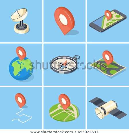 Planeta terra globo isométrica ícone vetor assinar Foto stock © pikepicture