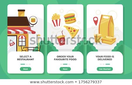 Order processing app interface template. Stock photo © RAStudio