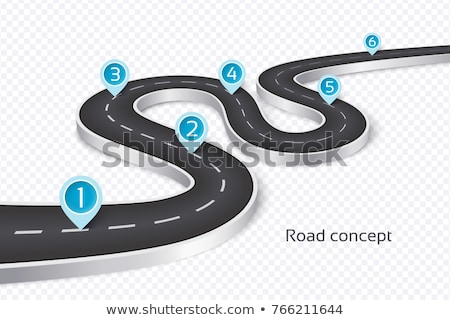 road map journey route pathway background design Stock photo © SArts