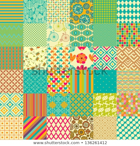 set of patterns with flower, stripe and shape stock photo © meikis