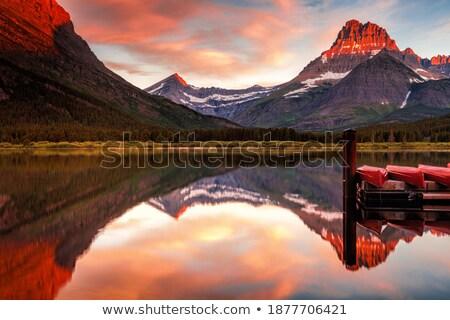 Alpenglow in the wilderness Stock photo © wildnerdpix