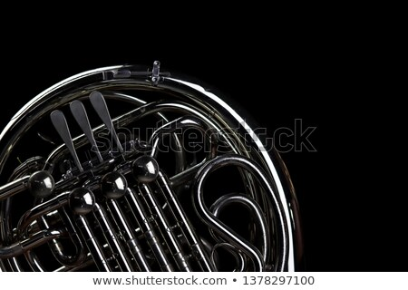 Stock photo: French horn Silver Isolated on White