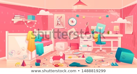 Dirty room with dust on wall and floor Stock photo © ia_64