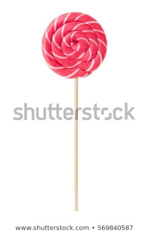 カラフル · スパイラル · ロリポップ · キャンディー · 開く · 白 - ストックフォト © tish1