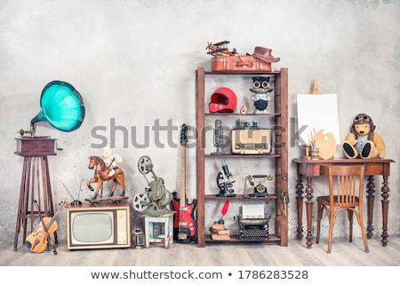 игрушку антикварная Медведи старые ручной работы хорошие Сток-фото © bluefern