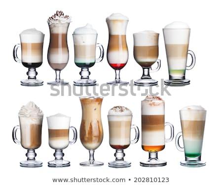 коктейль стекла коллекция ирландский кофе изолированный Сток-фото © karandaev