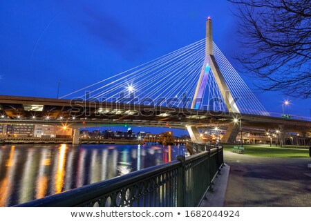 híd · Boston · részlet · amerikai · zászló · város · zászló - stock fotó © prill