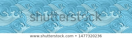 abstract grunge based wave background stock photo © pathakdesigner